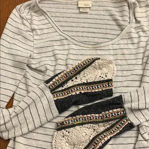Day Trip embroidered long sleeve shirt-s
